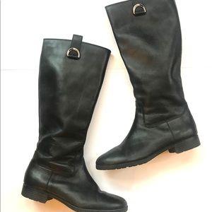 Ralph Lauren Sagira II black leather riding boots